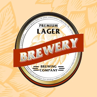 Beer label bebidas de estilo vintage audaces