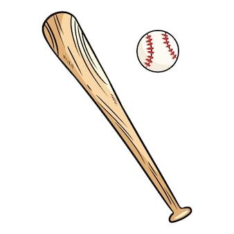 Béisbol y bate de béisbol.