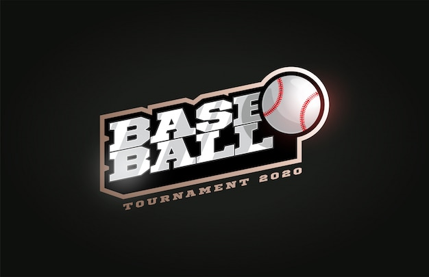 Béisbol logotipo de deporte profesional moderno en estilo retro