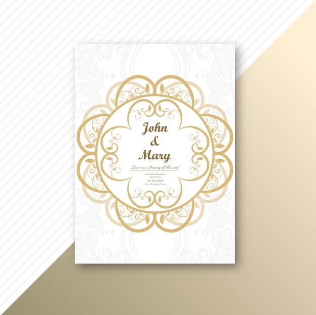 Bella invitación diseño de plantilla de tarjeta de boda