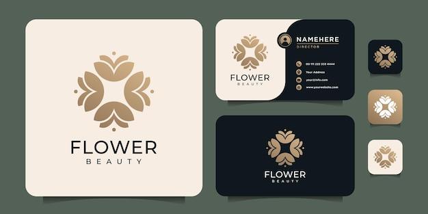 Belleza abstracta naturaleza flor logo spa decoración boutique