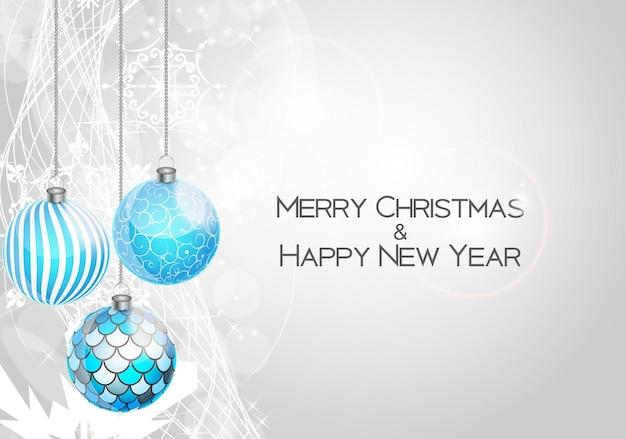 Belleza abstracta navidad y año nuevo fondo vector illust