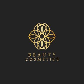 Belleza cosméticos diseño logo vector