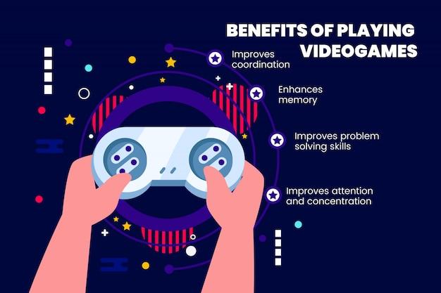Beneficios de jugar videojuegos con detalles