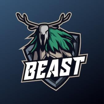 Bestia mascota para deporte y logotipo de esport