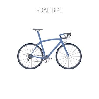 Bicicleta de carretera. icono del deporte