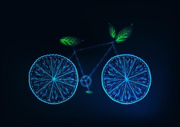 Bicicleta futurista hecha de rodajas de limón