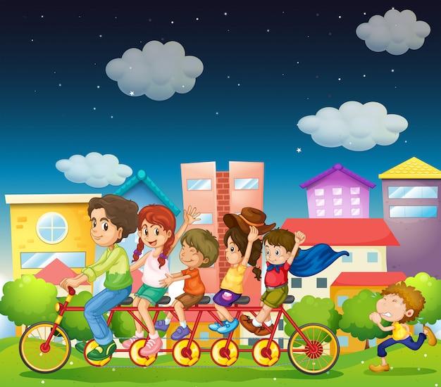 Bicicleta de montar en familia