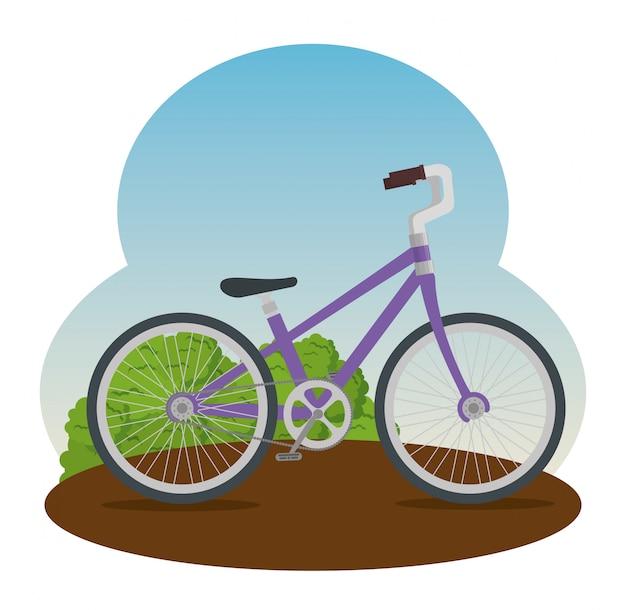 Bicicleta con pétalos y asiento ilustración