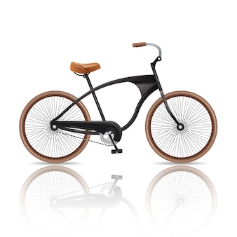 Bicicleta realista aislada
