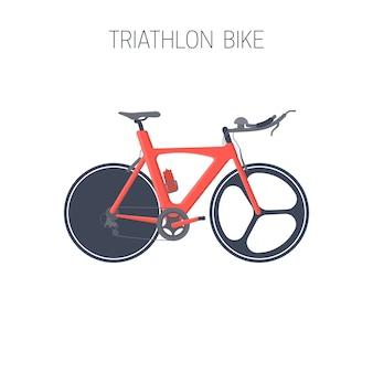 Bicicleta de triatlón. icono del deporte