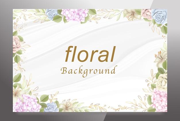 Bienvenida fondo floral