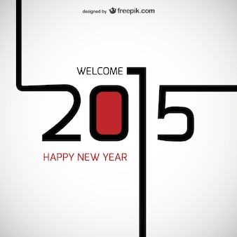 Bienvenido 2015 vector vector gratuito