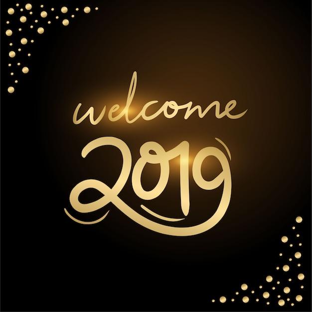 Bienvenido 2019 typhography