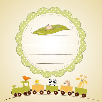Bienvenido bebé tarjeta