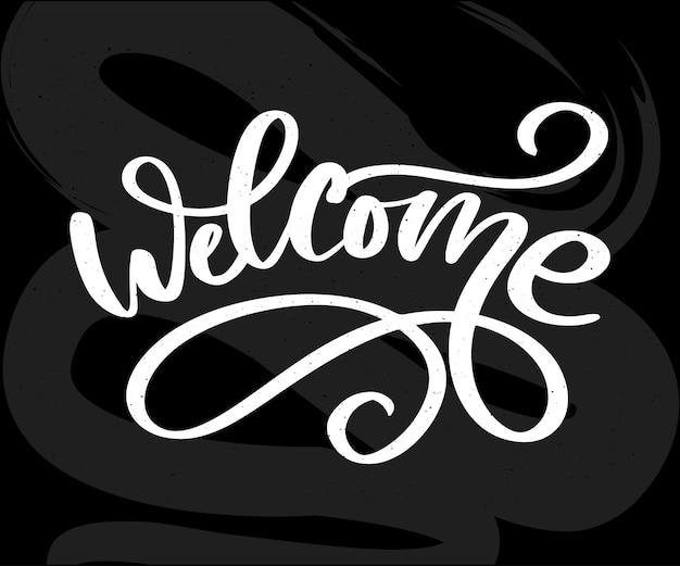 Bienvenido cepillo de letras