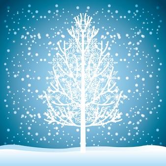Bienvenido diseño de invierno, ilustración vectorial gráfico eps10