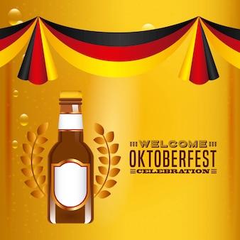 Bienvenido festival de cerveza oktoberfest