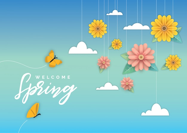 Bienvenido flor de primavera