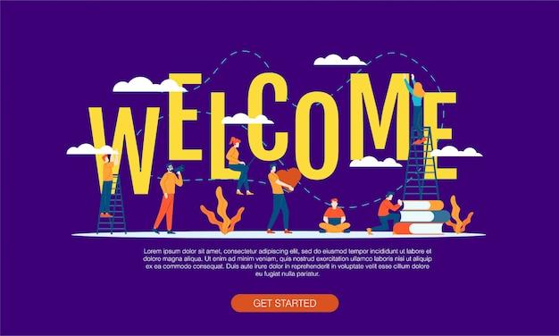 Bienvenido gran palabra banner