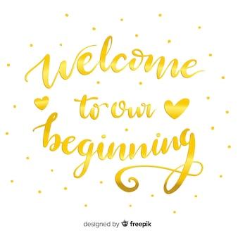 Bienvenido a nuestro comienzo