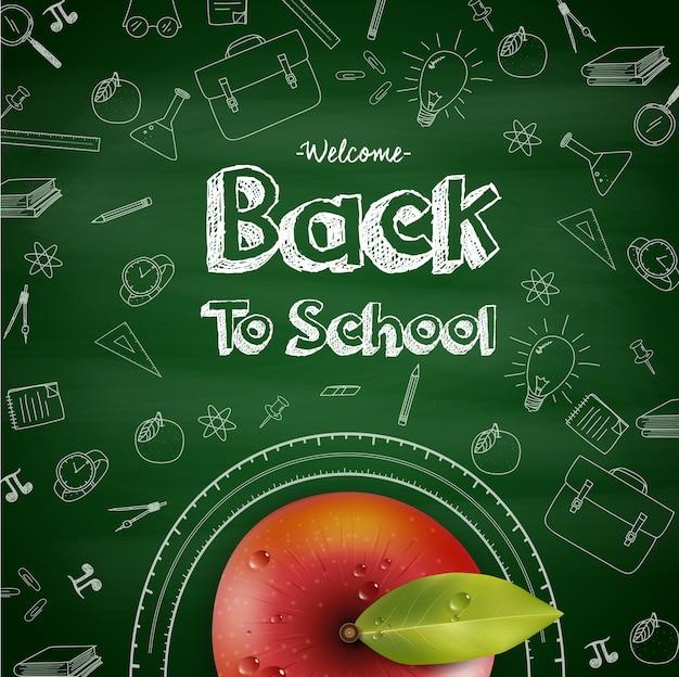 Bienvenido de nuevo al cartel de felicitación de la escuela