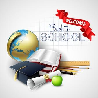 Bienvenido de nuevo al colegio. ilustración