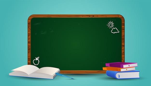 Bienvenido de nuevo a la escuela listo para estudiar