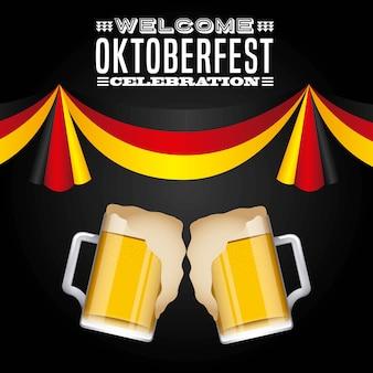 Bienvenido oktoberfest poster icon