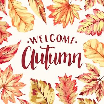 Bienvenido otoño marco