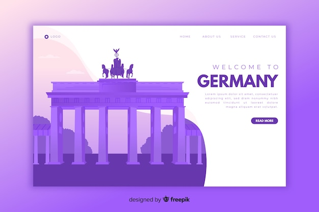 Bienvenido a la página de destino de alemania