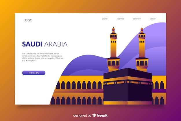 Bienvenido a la página de destino de arabia saudita