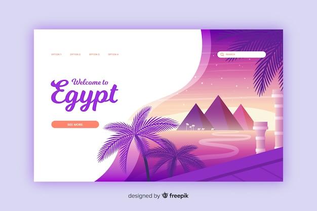 Bienvenido a la página de destino de egipto