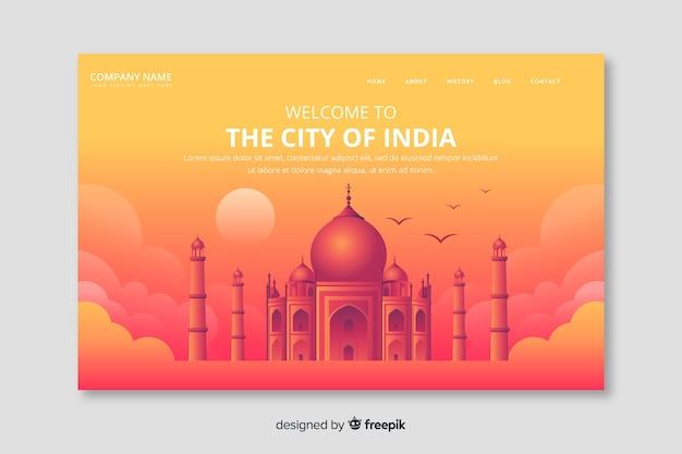 Bienvenido a la página de destino india