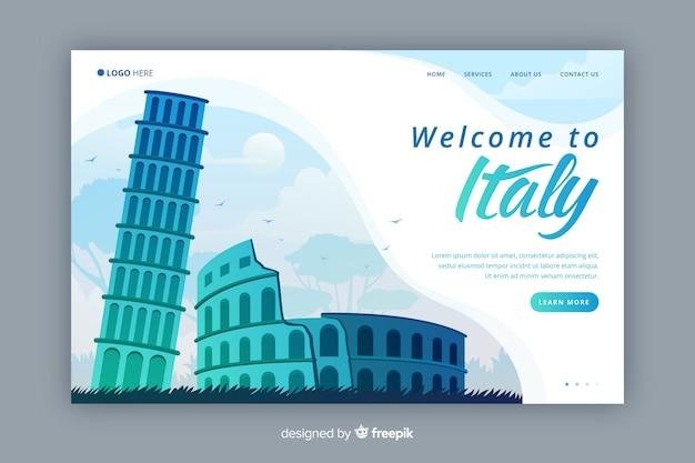 Bienvenido a la página de destino de italia