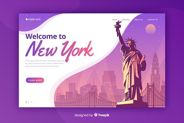 Bienvenido a la página de destino de nueva york