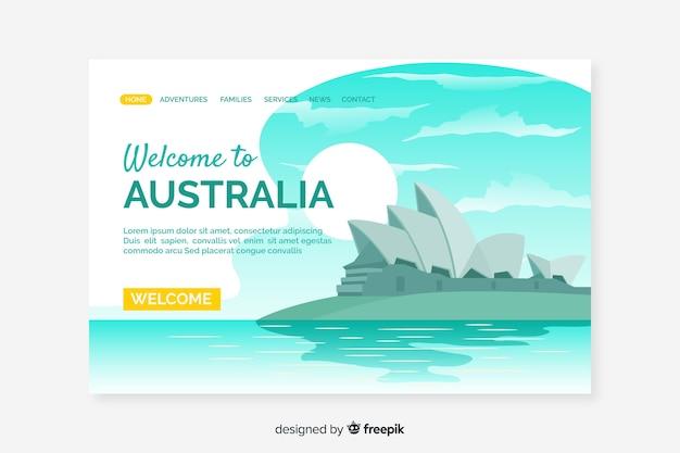 Bienvenido a la página de inicio de australia