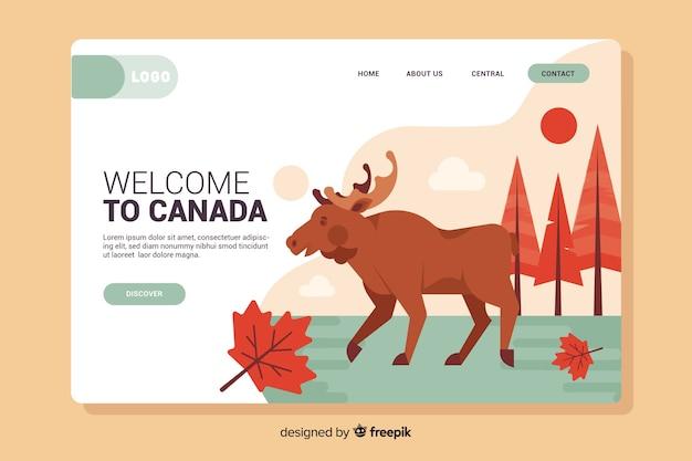 Bienvenido a la página de inicio de canadá
