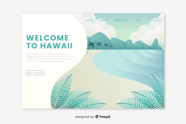 Bienvenido a la página de inicio de hawaii