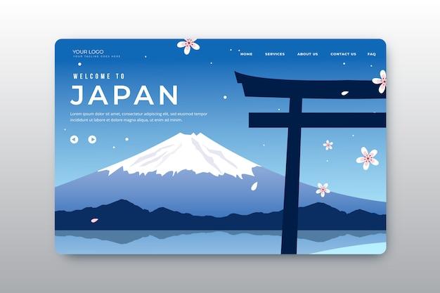 Bienvenido a la página de inicio de japón