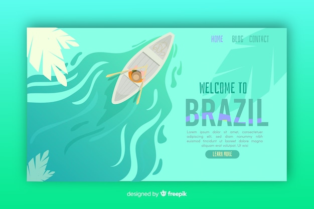 Bienvenido a la plantilla de página de destino de brasil