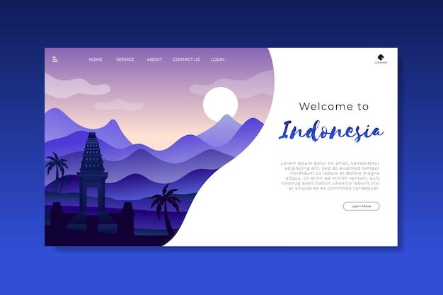 Bienvenido a la plantilla de página de destino de indonesia