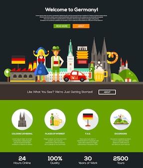 Bienvenido a la plantilla de sitio web de viajes de alemania