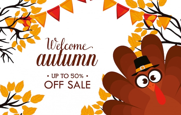 Bienvenido venta de día de otoño