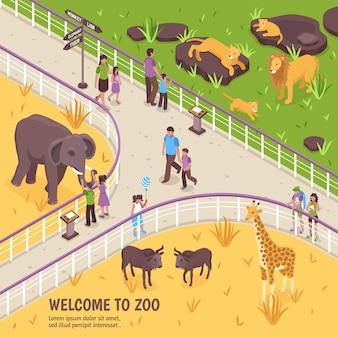 Bienvenido a zoo composition