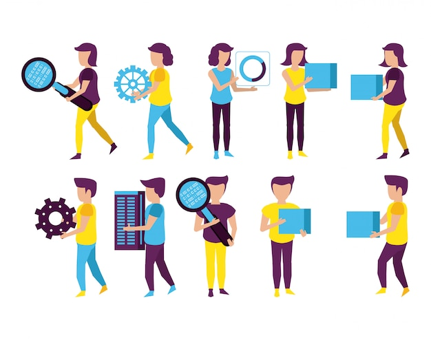 Big data y compañeros de trabajo.