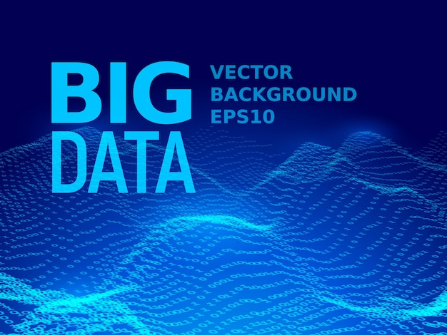 Big data. fondo de código binario