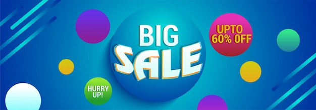 Big sale website banner con 65% de descuento.