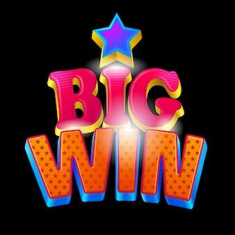 Big win casino banner en negro