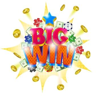 Big win casino banner.